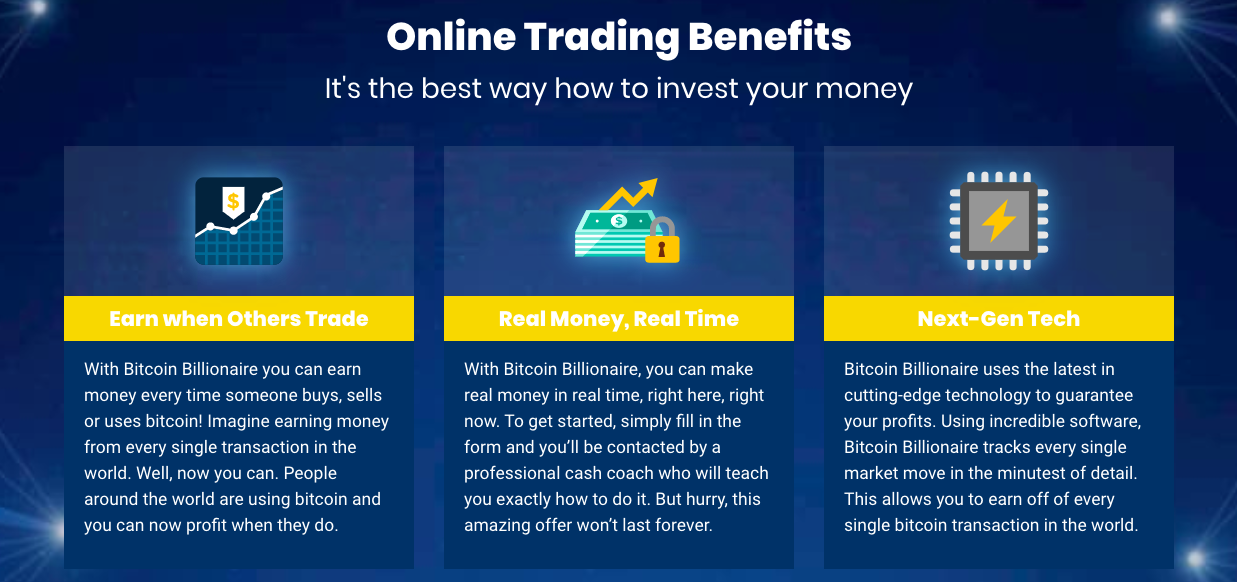 Bitcoin Billonaire benefits