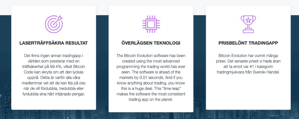 Bitcoin Evolution fördel