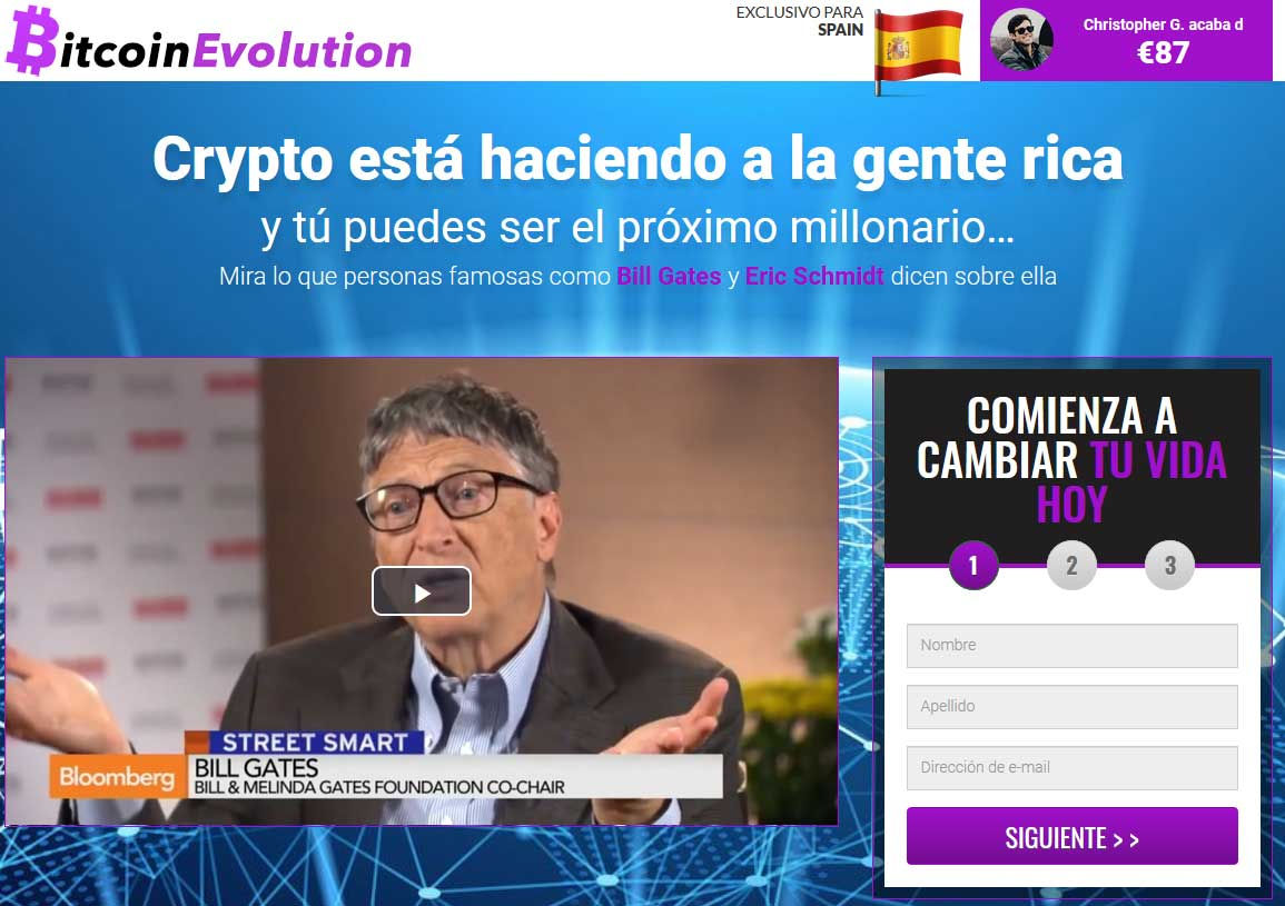 Bitcoin Evolution fiable o estafa